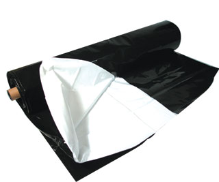 Picture of Black White Poly, 100' x 10', 5.5 mil