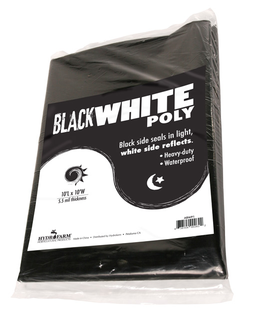 Picture of Black White Poly, 10' x 25', 5.5 mil