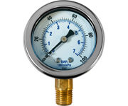 """Picture of Dilution Solution Pressure Gauge, 0-100 PSI, 1/4"""" Mount"""