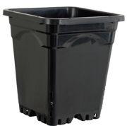 "Picture of Active Aqua 9"" x 9"" Square Black Pot, 10"" Tall, case of 24"
