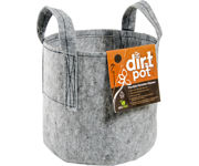 Picture of Dirt Pot Flexible Portable Planter, Grey, 400 gal, with handles