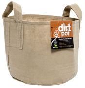 Picture of Dirt Pot Flexible Portable Planter, Tan, 25 gal, with handles
