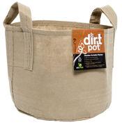 Picture of Dirt Pot Flexible Portable Planter, Tan, 600 Gallon, with handles