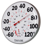 """Picture of 12"""" Temperature/Humidity Gauge"""